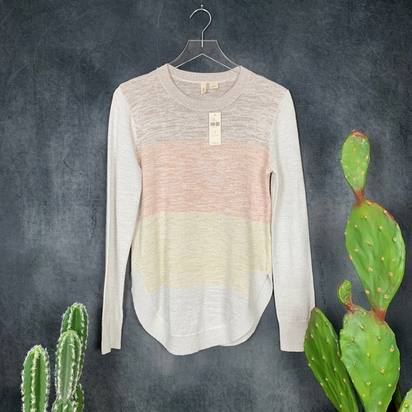 Anthropologie Sweaters - NEW Moth Anthropologie Yellow, Peach, Tan Sweater